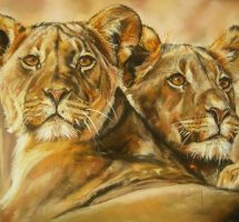 lionnes pastel card marylise froehly 90x70