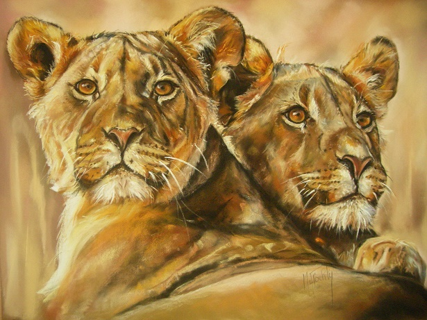 lionnes pastel card marylise froehly 90×70