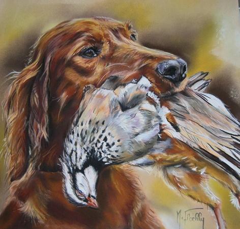 chien de chasse pastel mat 45×45