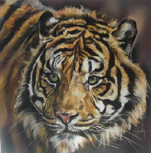 tigre pastel mat 80×80