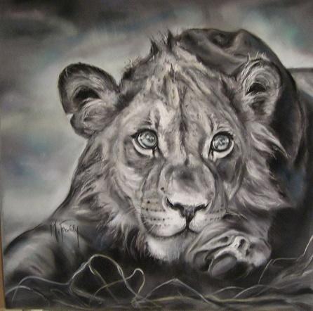 lionne pastel mat 80×80