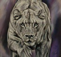 la lionne blanche -pastelcard - 70x90