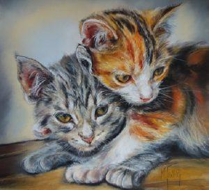 deux chats pastel 50x50 site (2)