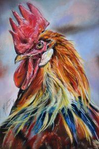 portrait coq pastel 20x30 site