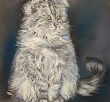 CHAT PATRICIA G. 24X30 PASTEL