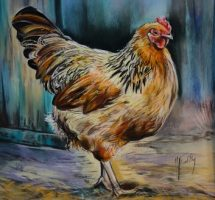 poules pastel 35x35