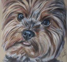 Nini chien de Pascale pastel 30x30