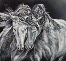 chevaux pastel 70x50 mai20redim