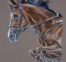 Texan cheval - pastel 50x70 - avril18