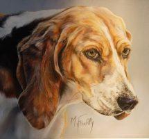 chien courant -pastel 30x24 -site