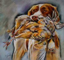 chien de chasse 2 pastel 65x65 image site
