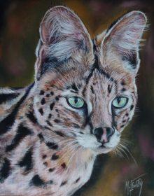 serval pastel 24×30 dec20