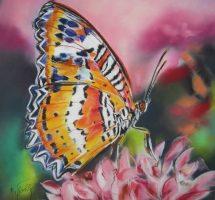 papillon pastel 40x40